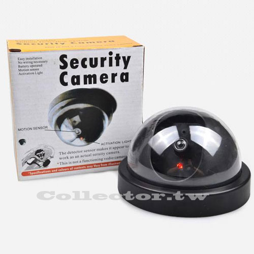 半圓式偽裝仿真攝像頭 半球防盜假監視器 帶燈玩具模型監視器