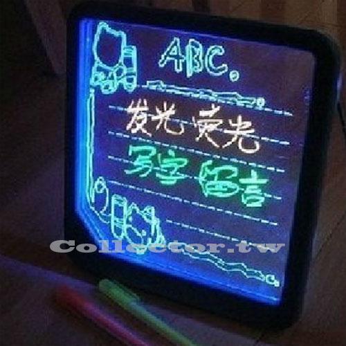 LED浪漫螢光留言板 寫字板 情人節/生日禮物 附螢光筆