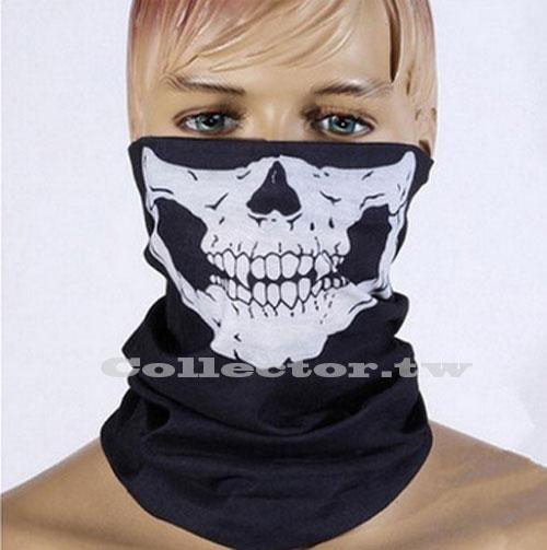 萬聖節造型骷髏頭面罩 無縫多功能魔術頭巾 百變頭巾 保暖圍脖