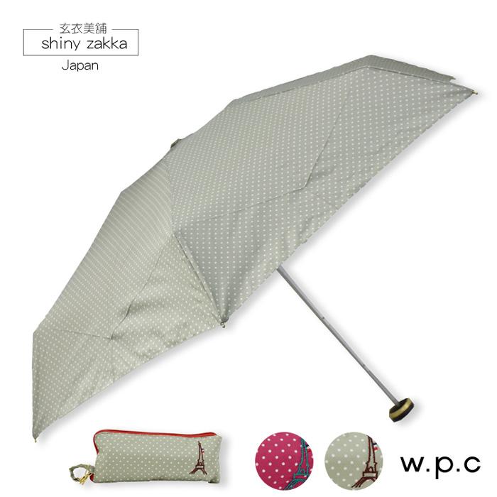 抗UV摺疊傘-日本品牌w.p.c晴雨折傘-巴黎鐵塔-綠/粉-玄衣美舖
