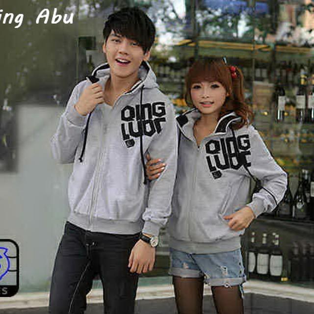 Pusat Jaket Couple Termurah Sweater Kapel Keren Jaket Couple Qing Abu Muda Rp .