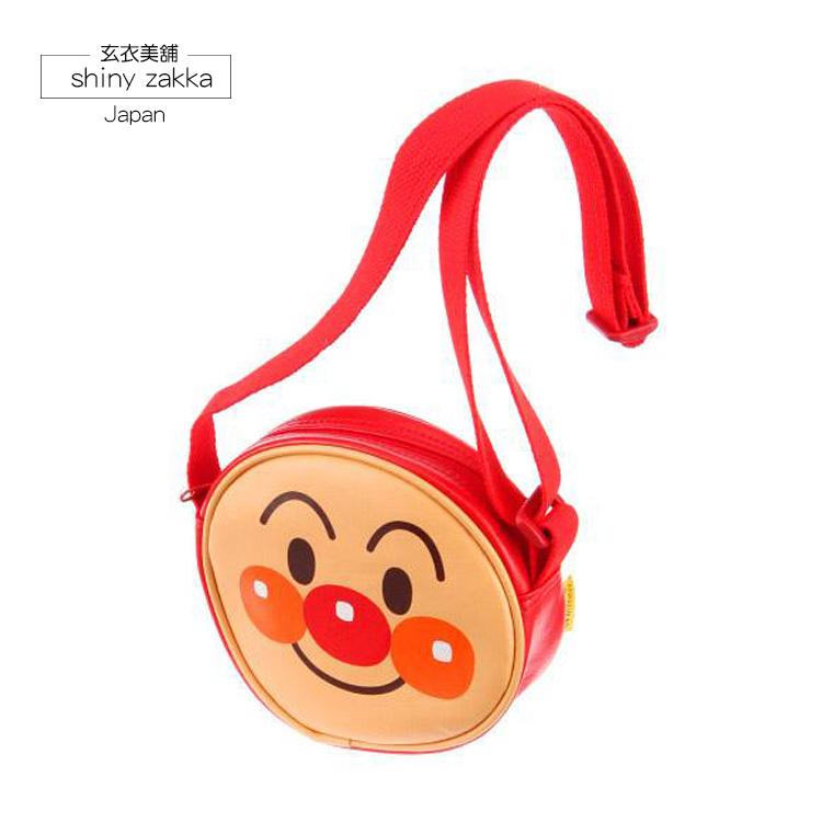 兒童斜背包-日本製麵包超人亮面顏型收納包-玄衣美舖