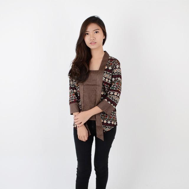De Voile Batik Wanita Modern cm Gilina Lgtop (Brown)  Rp 100.000 628f57cdea