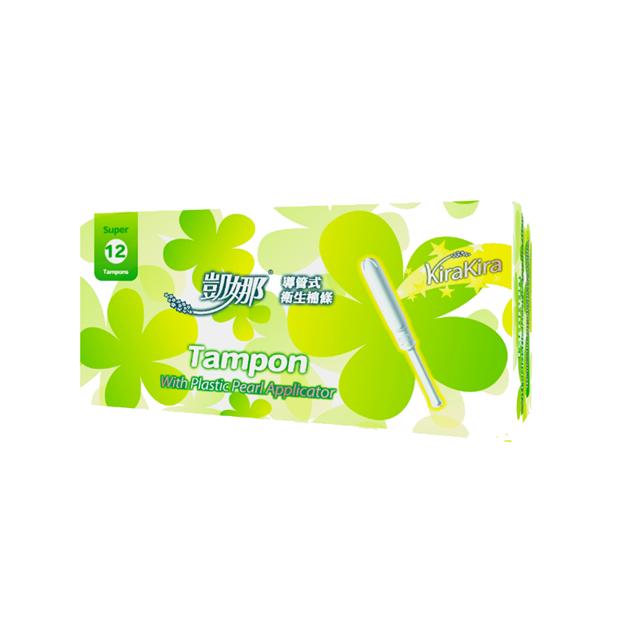 【凱娜】塑膠導管衛生棉條 量多型(12入)