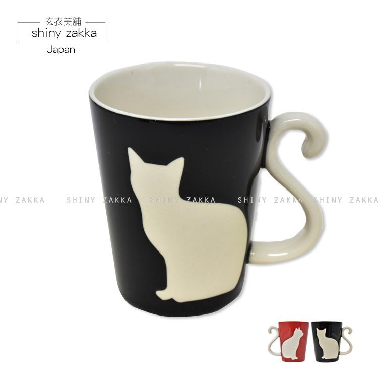 馬克杯-日本進口 療癒黑貓馬克杯(1入)-飽和單色-玄衣美舖