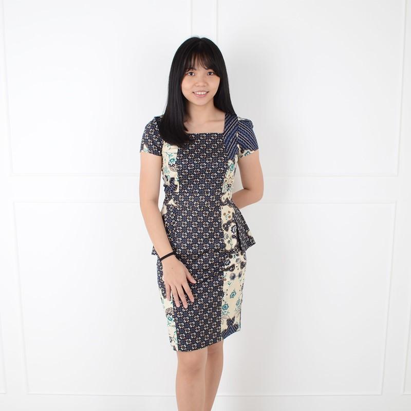 De Voile Batik Wanita Modern Slim Wilona ds (Navy) 5c0a43f643