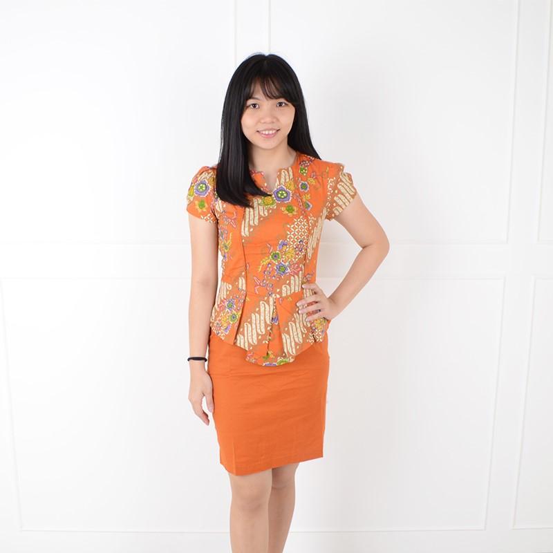 De Voile Batik Fashion Wanita sv Xafera UP (Orange) 721c42da48