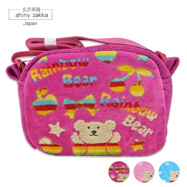 兒童斜背包-日本製Rainbow Bear彩虹熊斜背小布包-玄衣美舖