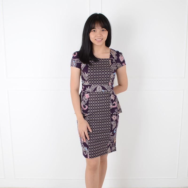 De Voile Dress Batik Wanita Slim Kenny ds (Purple) 52a9743feb