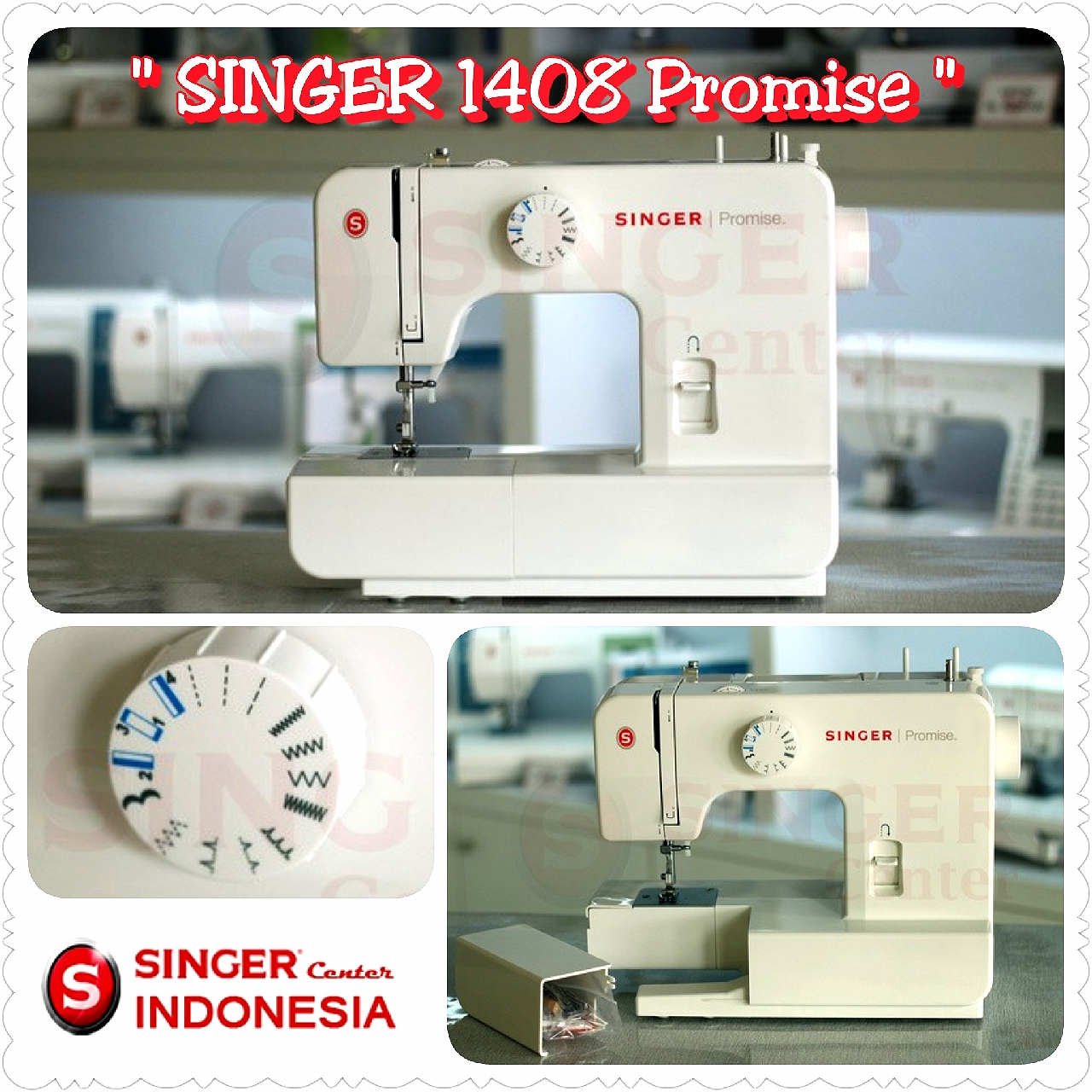 Singer 1408 Promise Mesin Jahit Daftar Harga Terlengkap Indonesia Portable Multifungsi