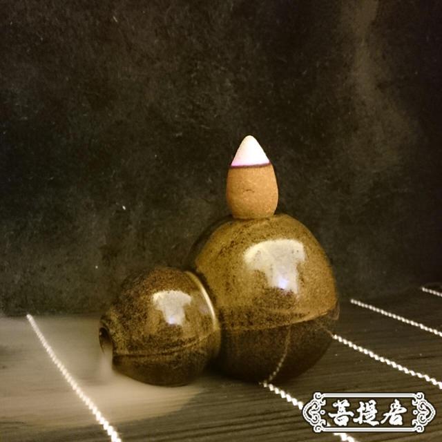 【菩提居】淨化避邪葫蘆香座(便攜款)
