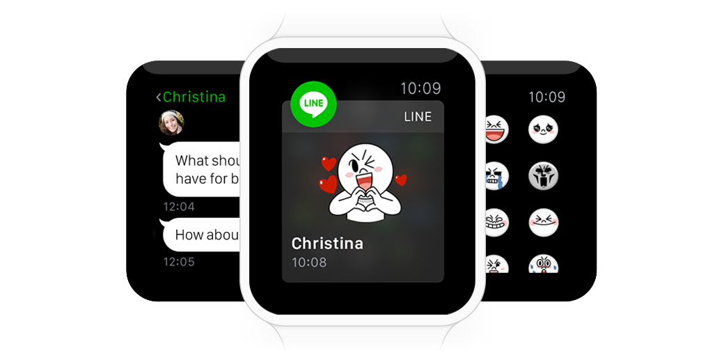 LINE】LINE to Provide Support for Apple Watch | LINE