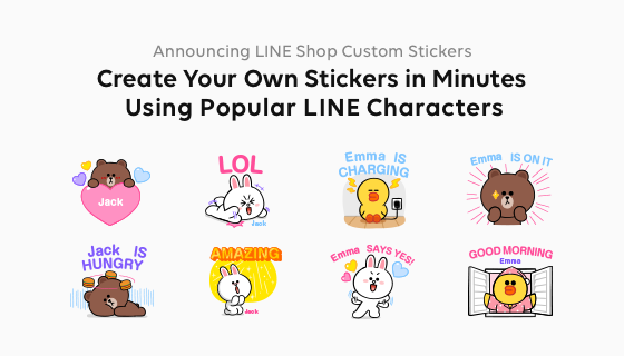 Global Line Announces Custom Stickers Create Your Own Stickers In