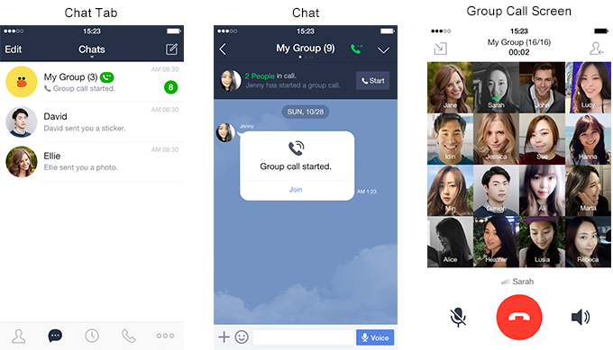 LINE]LINE Introduces New Group Voice Call Feature | LINE