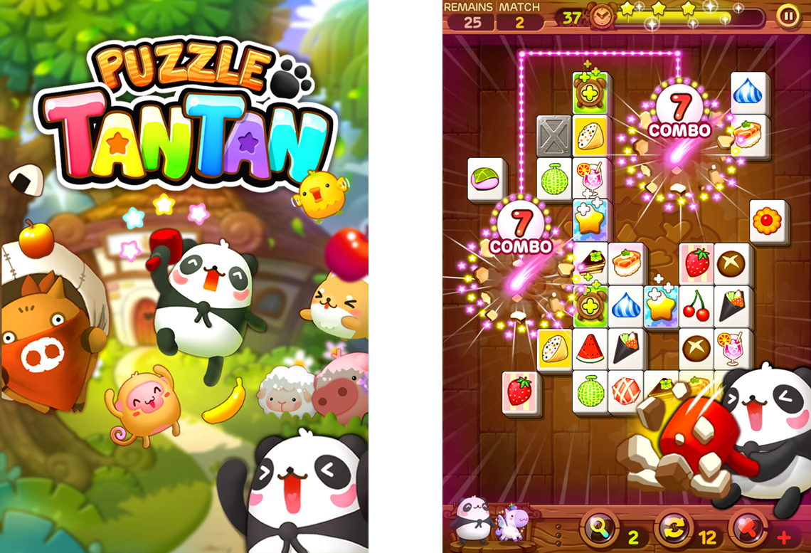 LINE GAME Releases Block-Matching Game LINE Puzzle TanTan