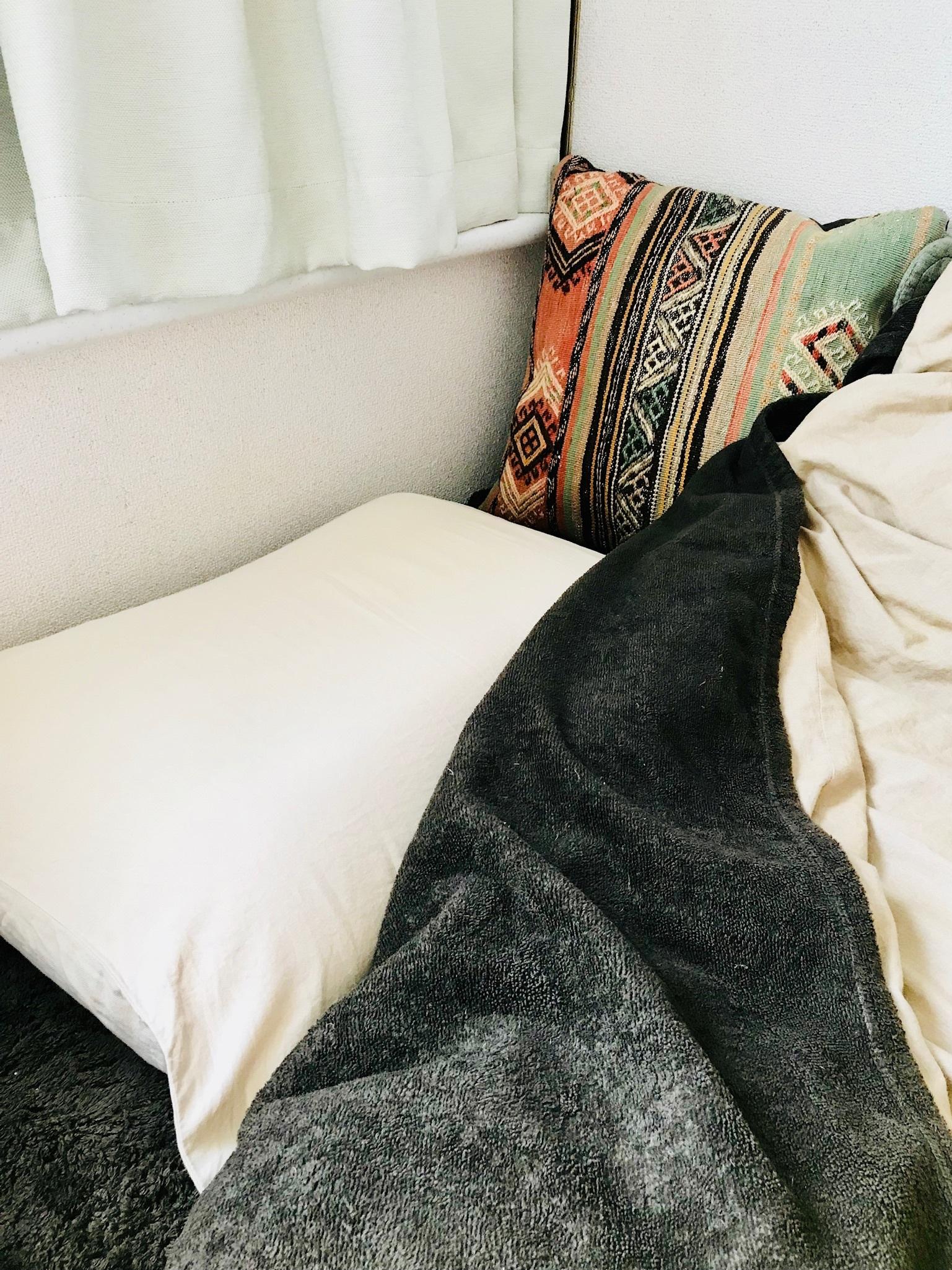 13>無印良品の綿シール織毛布