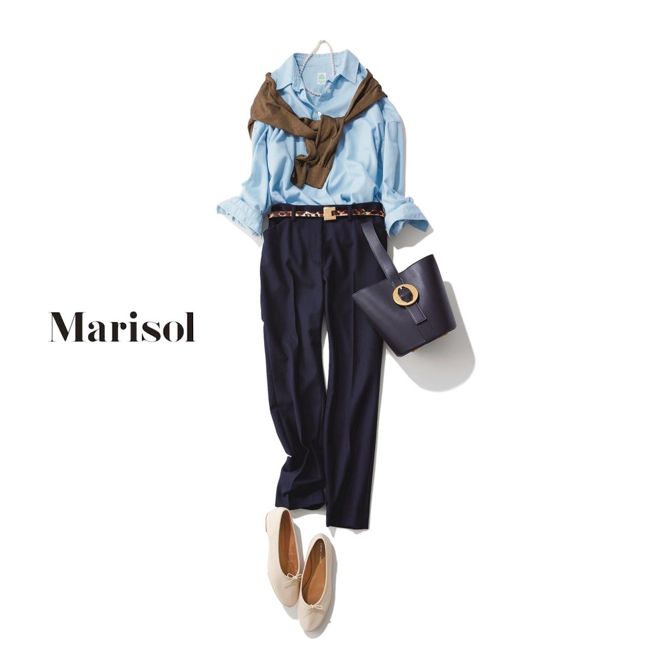d6e7b7a8387552 働くアラフォーの定番「シャツ」のファッションコーデ実例15選 (Marisol ...