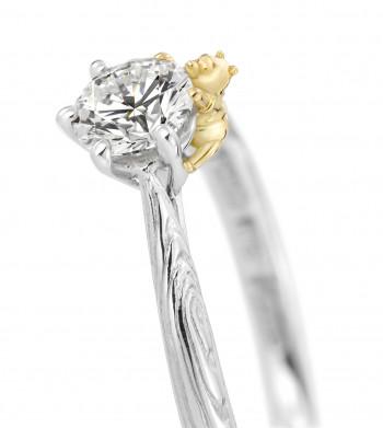 """56093d3669 ケイウノ「くまのプーさん」婚約・結婚指輪に新作登場! """"いつまでも2人は ..."""