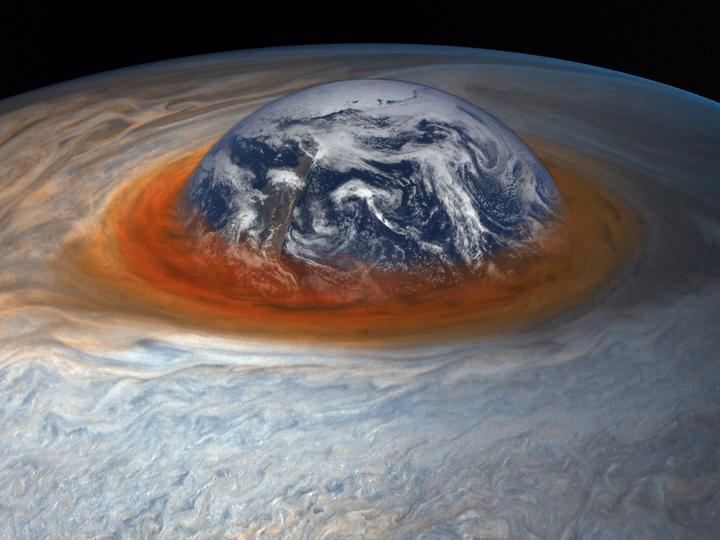 9285365f00b88 NASAが10億ドルを投じた木星探査機ジュノーは2017年7月、この大赤斑の素晴らしい姿を写真に捉えた。これまでにないほど、その巨大嵐に接近したのだ。