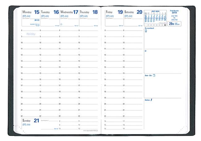bfc48180ce35 ビジネスシーンで活用されることが多いバーチカル式手帳は、時間軸で手帳を形成していくことができるため、予定が立てやすく、今後の動向を自分の中で整理することが  ...