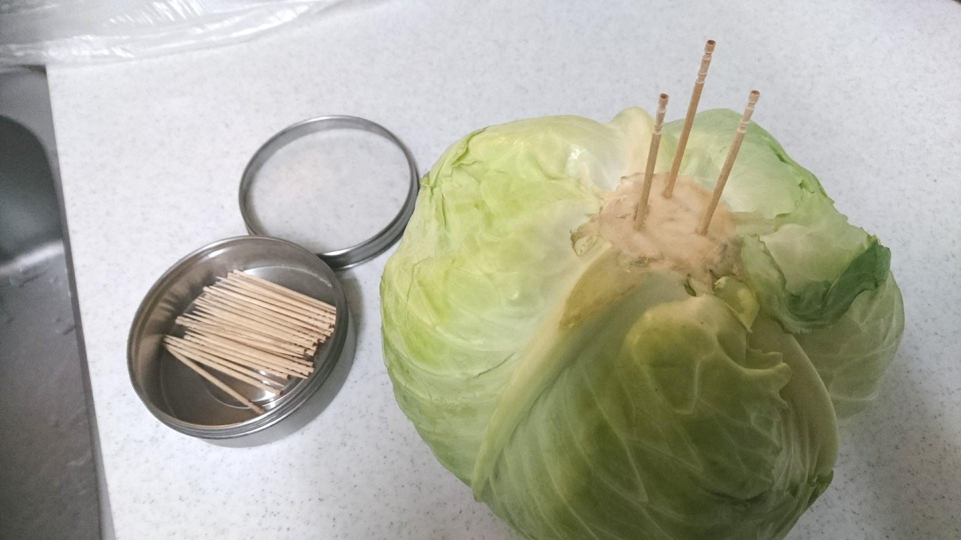 キャベツ 爪楊枝