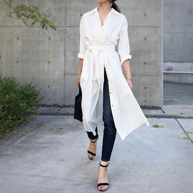 30aad1216f7d4 白シャツ・レディースコーデ17選 上品に着こなすコツ (MINE) - LINE ...