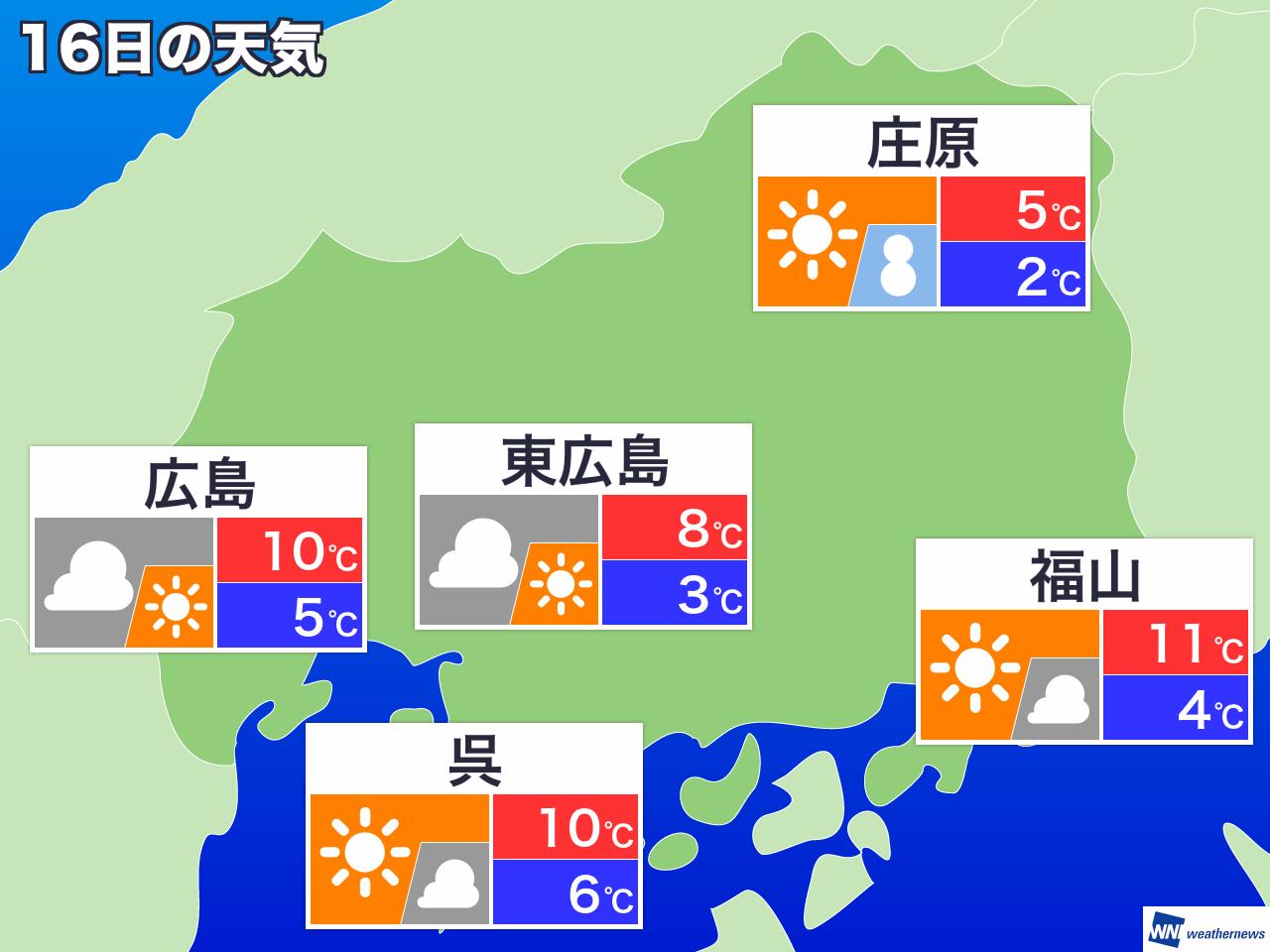 庄原 天気