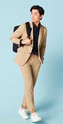 bf70ab617b2f3 【商品特長】 1.ポリエステル100%でストレッチ性が抜群。  2.ゆるすぎず堅すぎない次世代スーツ。ビジネスシーンだけでなくカジュアルのセットアップとしても着用 ...