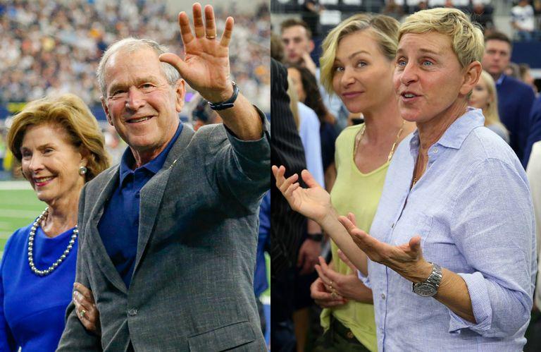 エレン デジェネレス ブッシュ元大統領との友情に批判殺到