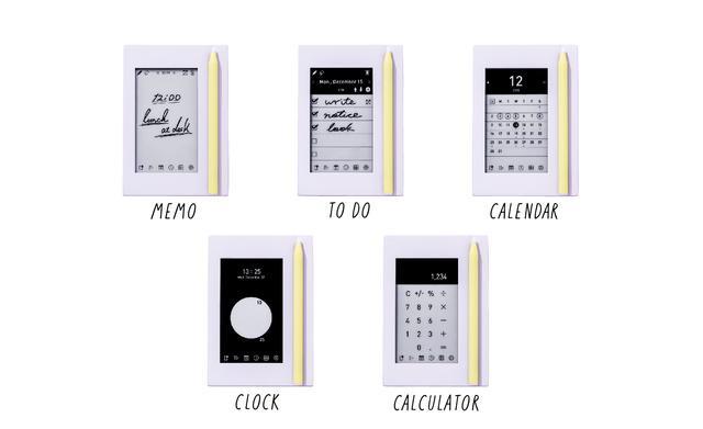 96b54cd79d 「カクミル」には、「メモ」だけでなく、「ToDoリスト」「カレンダー」「時計」「電卓」の五つの機能を搭載しています。この一台があれば、どうしても乱雑になりがちな  ...