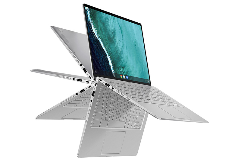 328a84fb90 ASUS JAPAN株式会社は、法人・教育機関向けに、Chrome OS搭載14型2in1「Chromebook Flip  C434TA」を19日より発売する。税別店頭予想価格は84,800円前後の見込み。