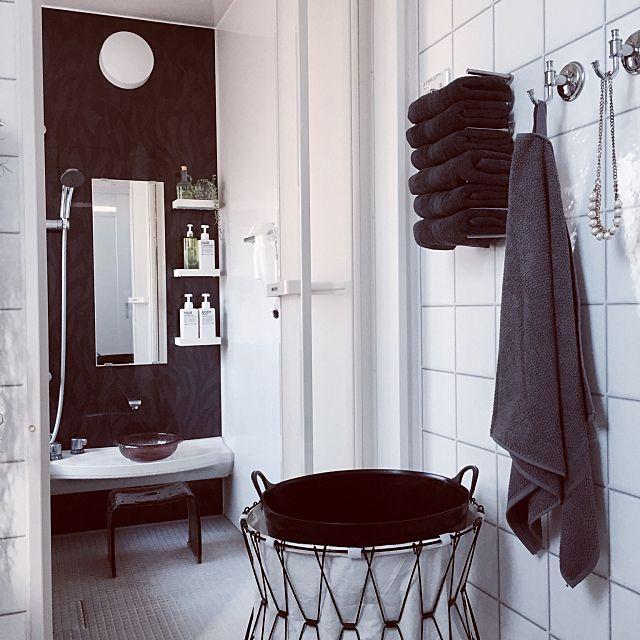 バスルーム タオル収納