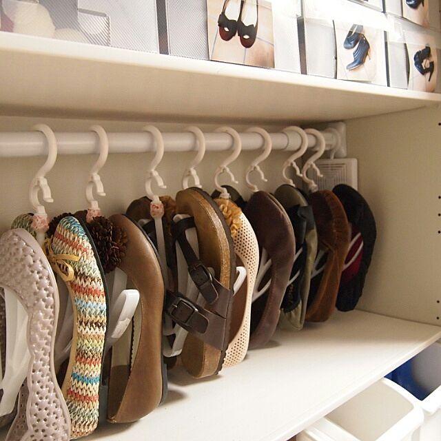 靴箱を使いやすく 100均アイテム活用の収納アイデア