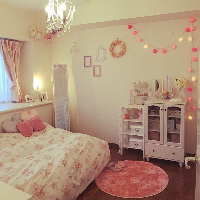 女子力高めリラックスできる女の子の寝室 Roomclip Mag Line