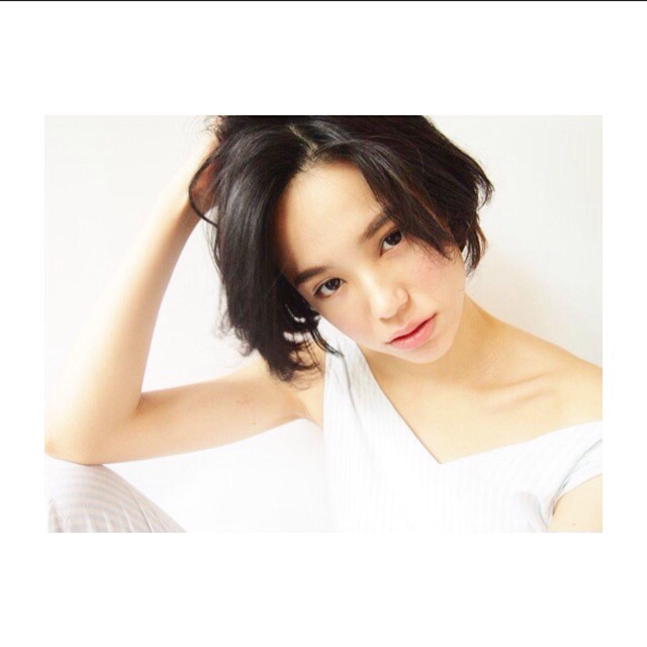 3b4e77cbf5045 ワンレンショートで叶える前髪なしの色っぽヘアスタイル♡ (HAIR) - LINE ...
