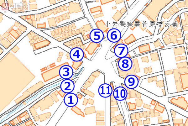 日本一?「11叉路」! 複雑すぎ...