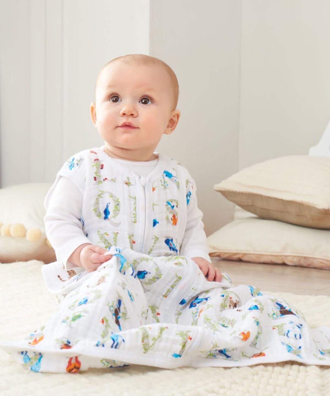 f07f5f1fac006 寝袋の形で「着るお布団」になるので、寝相の悪い赤ちゃんも足まで冷えずに安心。赤ちゃんの快適な睡眠をサポートしてくれますよ。